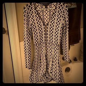 Zip up long sleeve dress